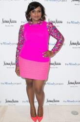 "Mindy Kaling - Hot Pink At ""The Mindy Show"" Fahsion Review (6/4/15)"