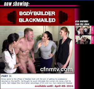 cfnmtv: Bodybuilder BlackMailed (Part 1-3)