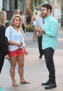 Shawn Johnson - Bing It On Challenge on Extra at The Grove in LA 09/13/12