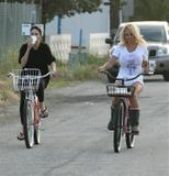 Pamela Anderson | rides her bike in Malibu May 3
