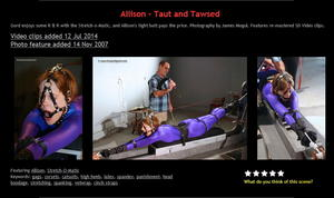 NakedGord: Allison – Taut and Tawsed